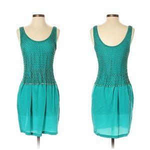 Moschino Cheap And Chic Sea Blue/Green Net Dress